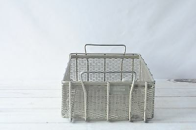 Wire Basket XLarge Industrial Vintage Large Metal industrial Basket Metal Box #3