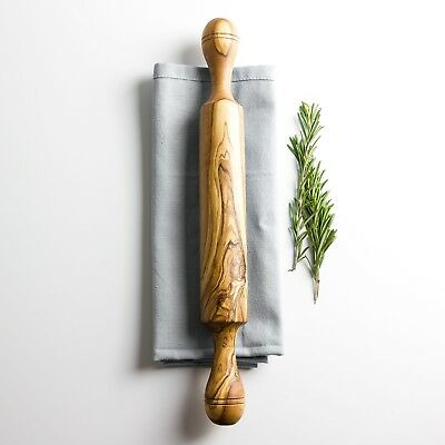 Traditional Olive Wood Rolling Pin -  Length 37cm