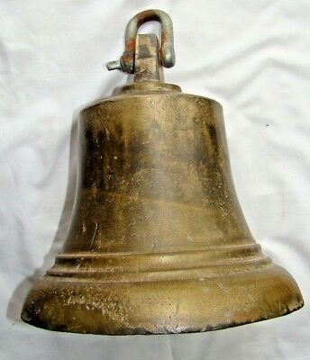 Large Antique World War 2 George VI 6th Fire Engine Ships Brass Bronze Bell