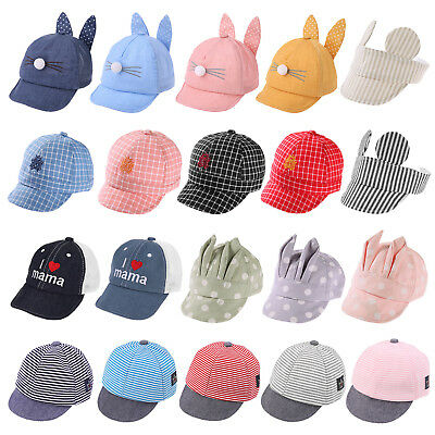 Infant Kids Boy Girl Baseball Sunscreen Cap Summer Breathable Snapback Sun Hats