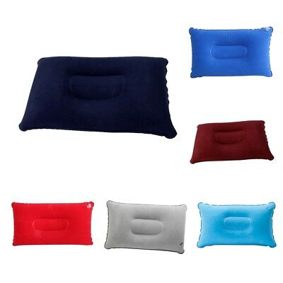 Inflatable Pillow Travel Air Cushion Camping Car Beach Head Rest Support Kit