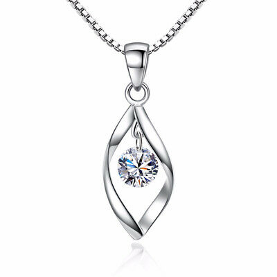 925 Sterling Silver Natural Crystal Pendant Necklace For Women Charm Jewelry