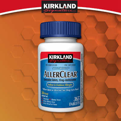 Kirkland Aller-Clear Non-Drowsy Allergy Loratadine 10mg 365 Tablets - No Tax!