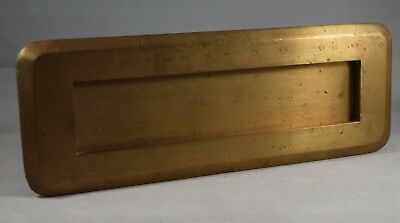 Antique Sargent Mail Slot made of Solid Brass with Spring Door Made in USA