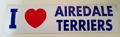 Airedale Bumper Sticker I {Heart} Airedale Terriers $5 (free shipping)