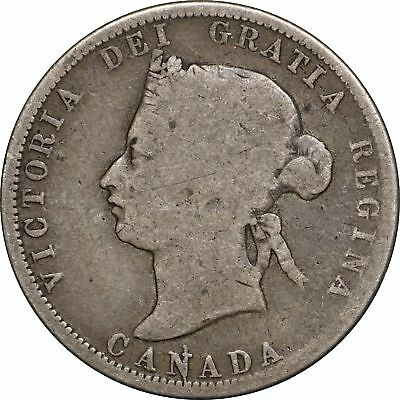1872 H Canada Quarter, Attractive, Original Patina  Strong Date G/VG, Very Good