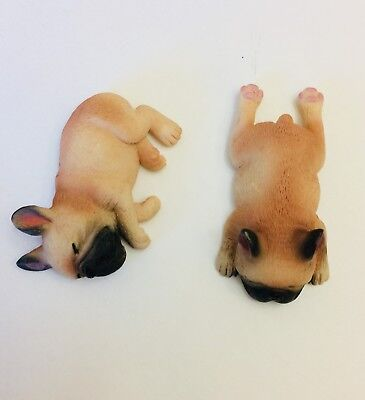 2 Different French Bulldog Little Figures