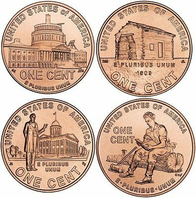 Lincoln Bicentennial Pennies. Complete your collection! 2009 set of 8 coins