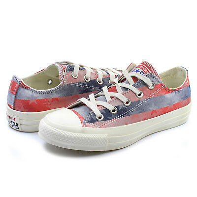 8e43a78a47ba Converse Women s Chuck Taylor All Star Ox Casino Red Navy Sneaker Shoes