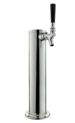 "Kegco 3"" SS Single Faucet Tower Polished Stainless Steel DT1F-145S"