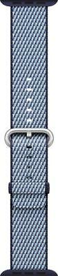 Genuine  Apple - Check Woven Nylon for Apple Watch 42mm - Midnight Blue