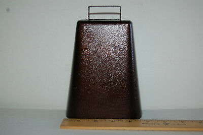 Cow Bell, brown, large and loud, call for supper, for the game