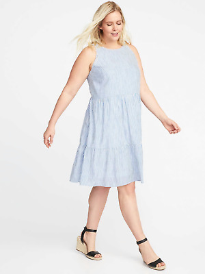 Old Navy Spring 2018 Sleevless Plus Size Tiered Swing Dress Nwt