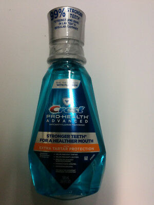 Crest Advanced Mouthwash Extra Tartar Protection, Refreshing Mint 16.9 oz
