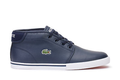 b48935b45 Lacoste Men s Casual Sneakers Ampthill 118 2 Cam Navy White Leather .
