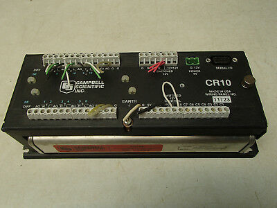 Campbell Scientific CR10X data logger w/ CR10 wiring panel