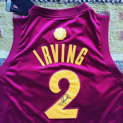 more photos dce44 82300 KYRIE IRVING SIGNED Autograph Cleveland Cavaliers Jersey NBA Celtics PROOF