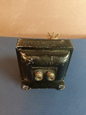 Vintage DOORBELL TRANSFORMER BOX by Rittenhouse Cat. No.34 UNTESTED 1930's