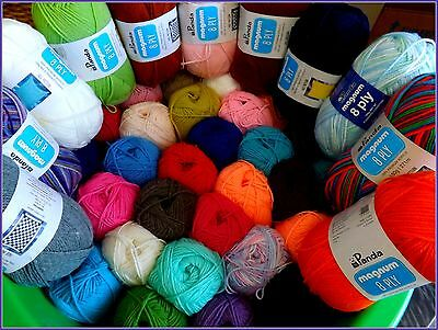 Panda Magnum 8 PLY 100g x 1 Ball Acrylic Crochet Knitting Yarn 48 Colour Choices