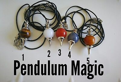 Code 461 agate jade tiger's eye Infused Pendulum Necklace you choice 1 only per