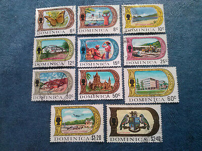 Dominica 1969 Sc 269-285 set of 11 stamps used