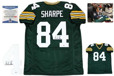 Sterling Sharpe Autographed SIGNED Jersey - Beckett Authentic - Green 97f241276