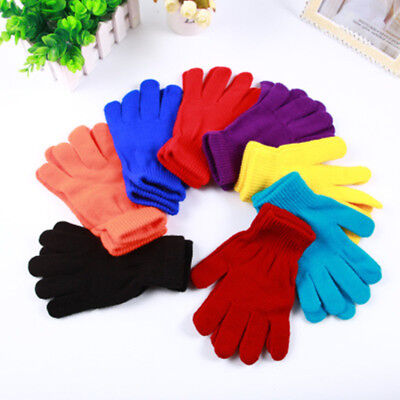 Men Women Winter Warm Knit Knitted Casual Gloves Stretch One Size Many Styles