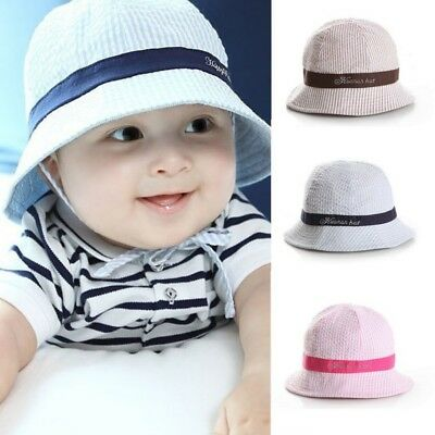 US Baby Kids Summer Sun Cap Infant Boy Girl Beach  Bucket Hat Visor Cap Headwear