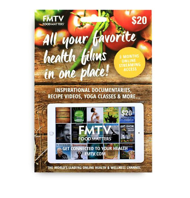 Food Matters FMTV Gift Card (like Netflix for Health)