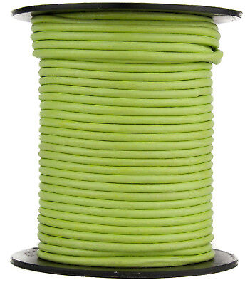 combined post lime green round 10 metres x .5mm thick  PolyestCotton Wax Cord