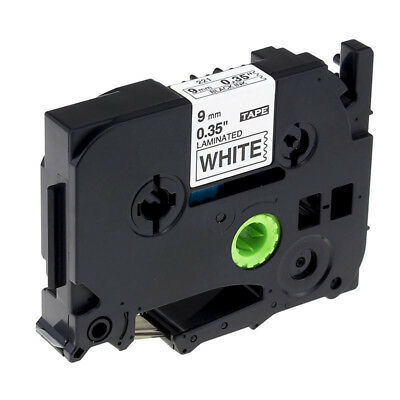 1pc Black on White Label Tape 9mm Compatible for Brother Tze 221 TZe221 P-Touch
