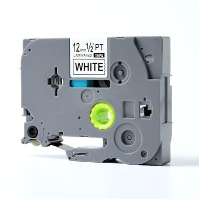 Label Tape 12mm Compatible for Brother TZ Tze 231 TZe231 P-Touch Black on White