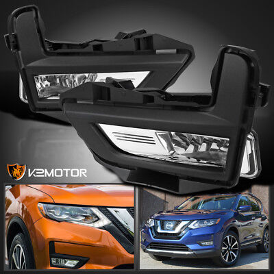 For 2017-2018 Nissan Rogue Replacement Driving Lamps Bumper Fog Lights+Switch