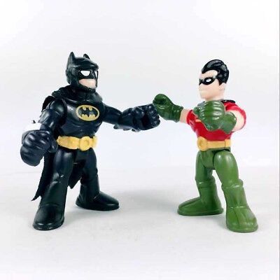 "2Pcs Fisher-Price Imaginext DC Super Friends BATMAN & ROBIN 2.5"" Collect Figures"