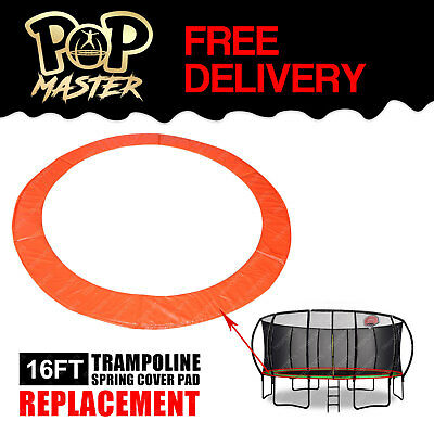 Replacement 16FT Curved Trampoline Spring Cover Pad Round Spare Part - Orange