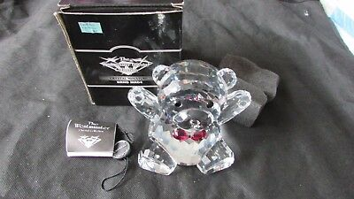 westminster cut glass crystal collection large teddy bear 616  MIB