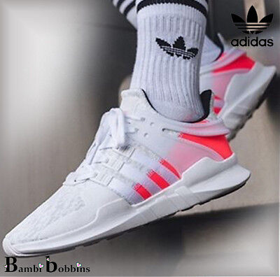 the best attitude 6b79d 521d1 Adidas Girls EQT Equipment Support Advanced White Trainers Size Kids UK 2  2.5