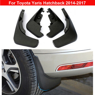4pcs Plastic Tire Splash Guards Mud Flaps For Toyota Yaris Hatchback 2014-2016