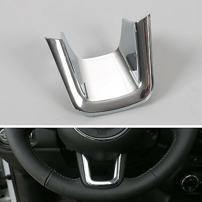 Chrome Steering Wheel Insert Cover Trim Molding ABS Fit For Jeep Renegade 15-16