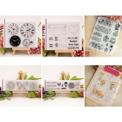 NEW Transparent Clear Silicone Stamp Seal DIY Scrapbooking Card Decor