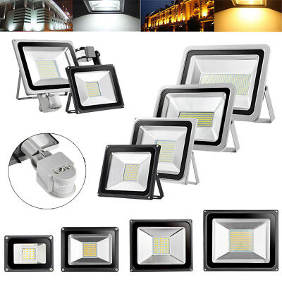 10/20/30/50/100W With PIR Sensor LED Floodlight Waterproof IP65 Security Lamps