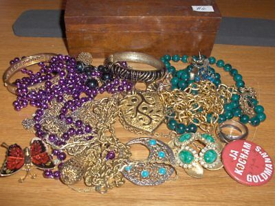 Vintage Jewelry LOT Estate - Jewelry Box-WOMENS NECKLACES, BRACLET EARRINGS,  #6