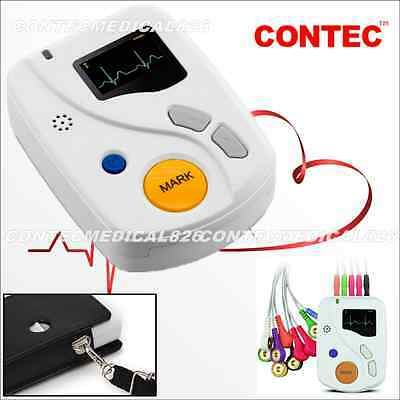 48 Hours Dynamic ECG Holter EKG Monitor ECG 12 Channel Analyzer USB Software