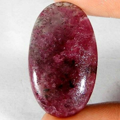 24.80cts Genuine Natural Royal Pink Ruby Zoisite Oval Cabochon A++ Gemstone