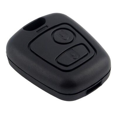 Remote Key Shell Fit For CITROEN C1 C2 C3 for PEUGEOT Fob 2 BTN Case Black MA