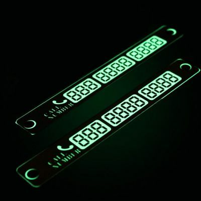 Adjustable Notification Car Parking Phone Number Card Luminous Suction Plates