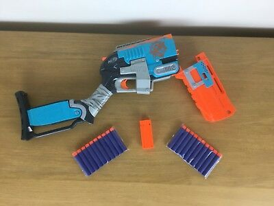 Nerf Zombie Strike Sledgefire with 20 new dart bullets shell