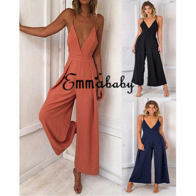 Emmababy Women Boho Playsuit Jumpsuit Rompers Summer Beach Beach Jumpsuit AU