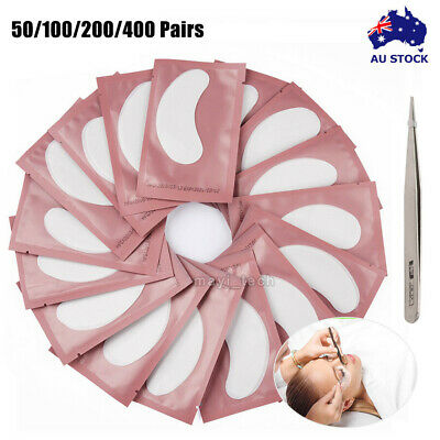 50/400Pairs Under Eye Curve Eyelash Extension Pads Gel Patch Lint Free Beauty AU
