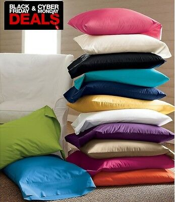 Black Friday Sale !!! Soft & Luxurious  2Pc Pillowcases 400Tc 100% Cotton Solid